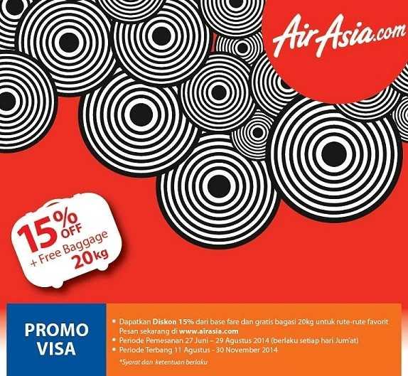 Promo Air Asia dengan Kartu Kredit BRI Diskon hingga 15%