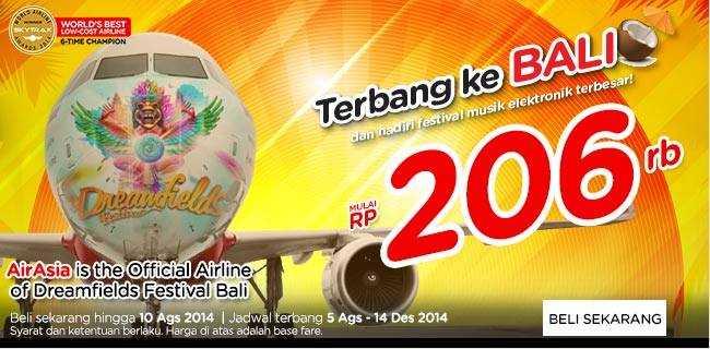 Promo Air Asia Agustus 2014 Dreamfiled Festival Bali GWK
