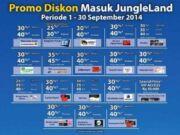 Promo Jungle Land Sentul diskon hingga 40%.