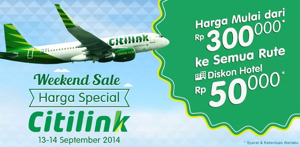 Weekend Sale promo citilink tiket.com