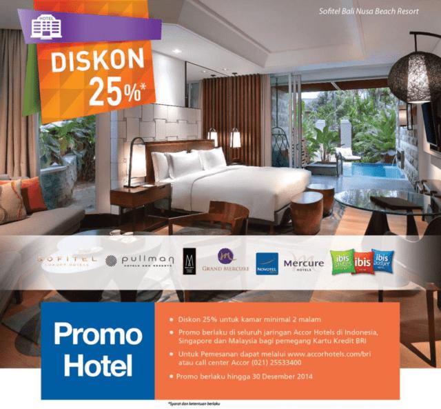 promo hotel kartu kredit BRI di Jaringan Hotel Accor