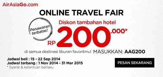 promo air asia online travel fair