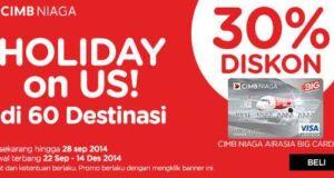 Promo Air Asia CIMB Niaga Diskon Hingga 30%