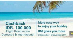Promo tiket pesawat kartu kredit bni di nusatrip diskon hingga Rp 100.000