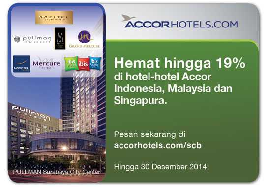 Promo kartu kredit standard chartered accor hotel