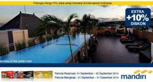Promo hotel kartu kredit mandiri di ticktab diskon hingga 10%