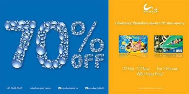 Promo Flazz BCA Water Bom Jakarta