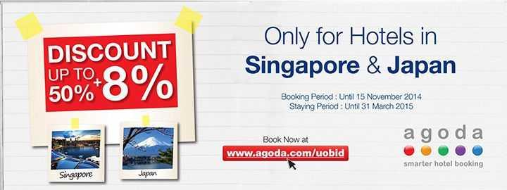 Promo Hotel Kartu Kredit UOB Singapore & Japan Diskon Up