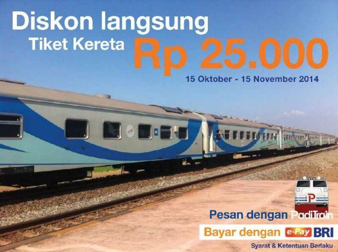 promo epay BRI - tiket kereta api