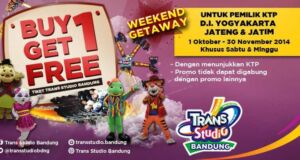 Buy 1 Get 1 Free Trans Studio Bandung
