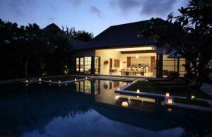 Promo Hotel Seminyak Bali OCBC - Nyaman Villas Night VIews