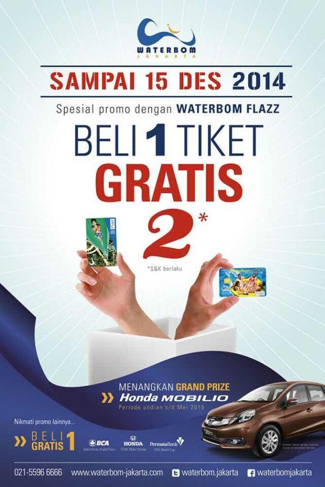 Promo Waterbom Jakarta beli 1 gratis 2