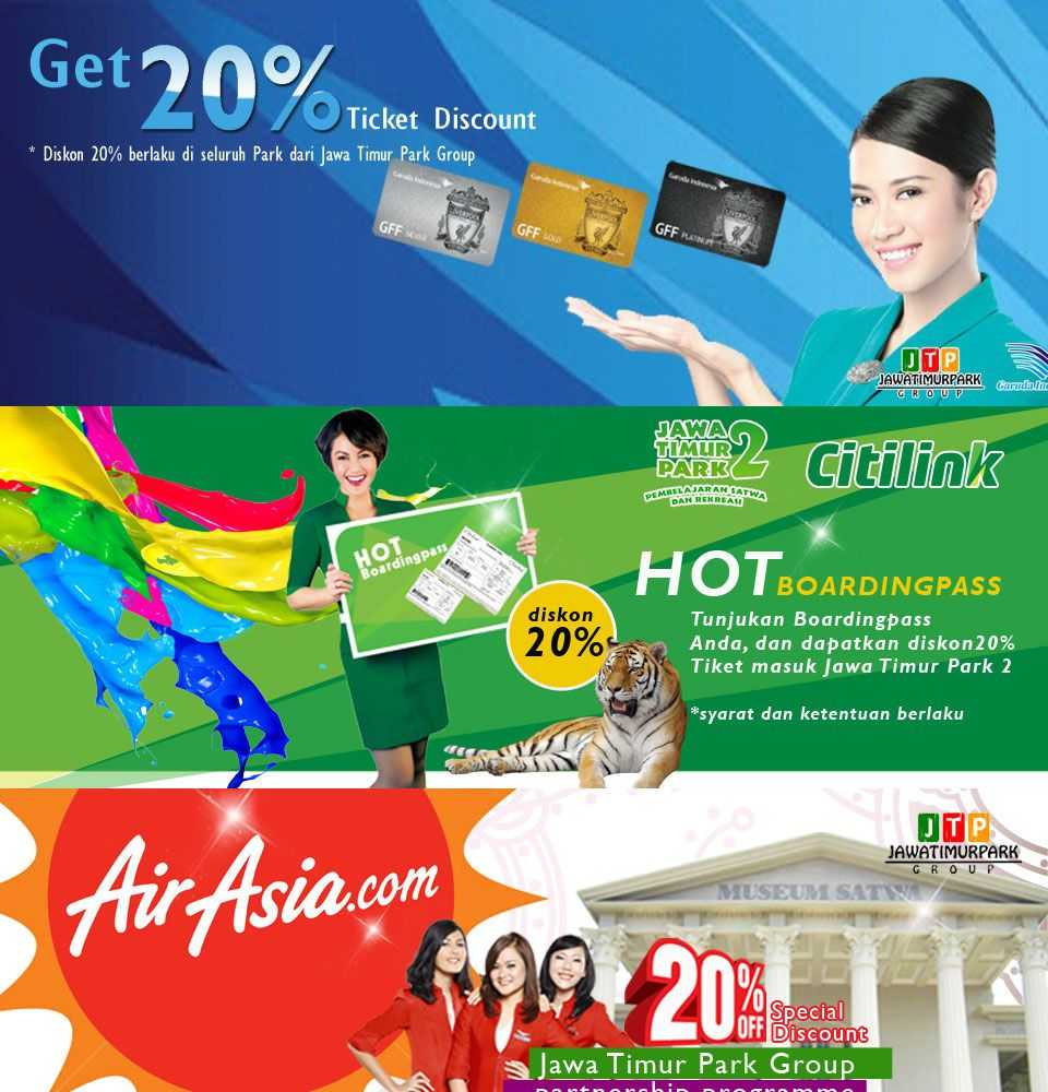 Promo Jatim Park Diskon 20 Dengan Boarding Pass Periode S