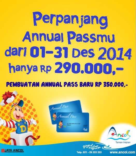 Promo perpanjangan annual pass dufan hanya Rp 290.000