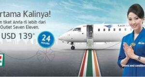 Harga spesial tiket pesawat garuda indonesia di seven eleven