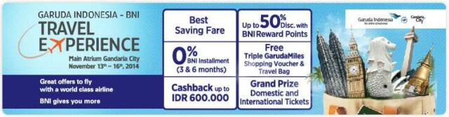 Promo Garuda Indonesia Kartu Kredit BNI hemat hingga 50%, cashback hingga Rp. 600.000 dan masih banyak benefit lainnya