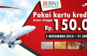 promo diskon tiket pesawat kartu kredit bni diskon hingga Rp 100.00 dan voucher senilai Rp 50.000 di airpaz.com