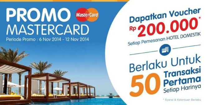 promo mastercard tiket.com voucher hotel senilai Rp 200.000
