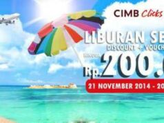 Promo cimb clicks nikmati diskon tiket pesawat hingga Rp 100.00 plus Voucher senilai Rp 100.000