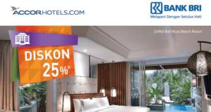 Promo hotel accor dengan kartu kredit BRI diskon 25% minimal 2 malam