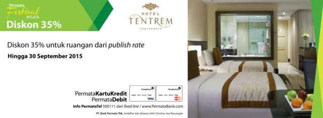Diskon 35% promo hotel tantrem yogyakarta dengan kartu kredit permata dan debit permata