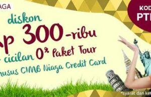 Promo paket tour diskon Rp 300 Ribu dengan CIMB Niaga