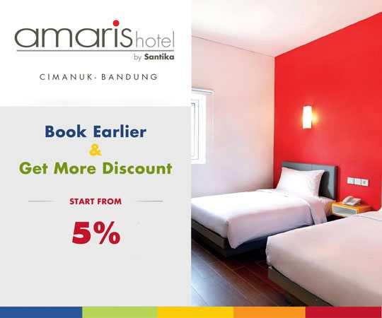 booking lebih awal di Hotel Amaris Cimanuk Bandung dapatkan diskon 5%