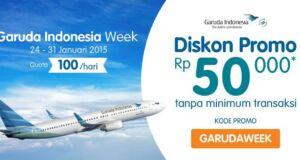 KOde Promo Garuda Indonesia Tiket.com Diskon Rp 50.000