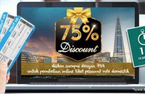 Diskon 75% tiket pesawat panorama tours