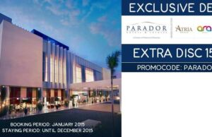 Promo Code Exclusive Deal Diskon Hotel 15% di Parador Group Ticktab