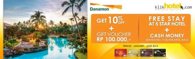 promo hotel kartu kredit danamon di klik hotel free stay 5 star hotel