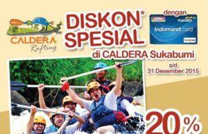 Promo Kartu Indomaret diskon 20% di Caldera Rafting