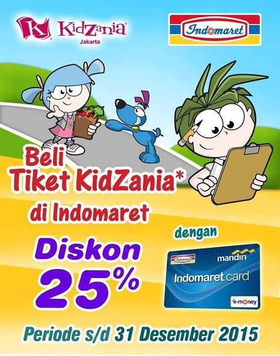 Promo Kidzania Indomaret diskon hingga 25%
