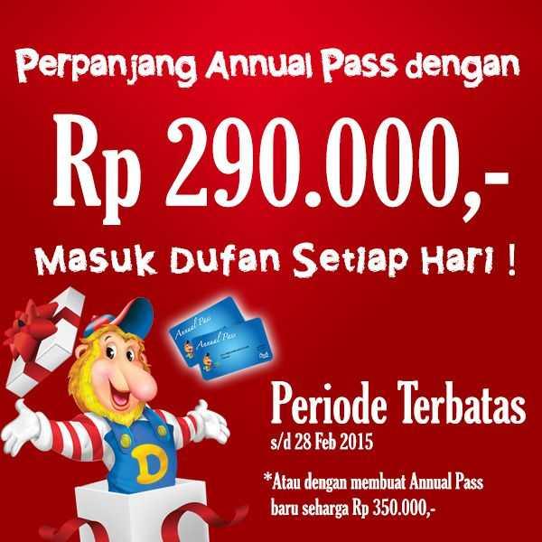 Promo Perpanjangan Annual Pass Dufan