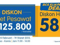 Promo Hotel dan Tiket Pesawat BCA Klik Pay Tiket.com