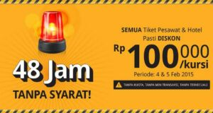 Diskon Rp 100.000 promo hotel dan tiket pesawat tiket.com tanpa syarat dan tanpa kuota