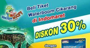 Promo Waterboom cikarang indomaret card diskon hingga 30%