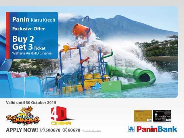 Buy 2 Get 3 Tiket Wahana Air & 4D Cinema The Jungle Bogor