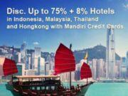 Diskon 8% di Agoda dengan menggunakan kartu kredit Mandiri