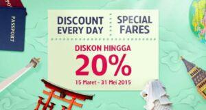 Promo tiket pesawat Garuda Indonesia GarudaMiles diskon hingga 20%