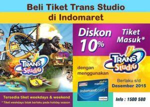 Promo Kartu Indomaret Tiket Masuk Trans Studio Bandung sebesar 10%