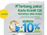 Diskon 10% Tiket pesawat Citilink dengan Kartu Kredit Citibank
