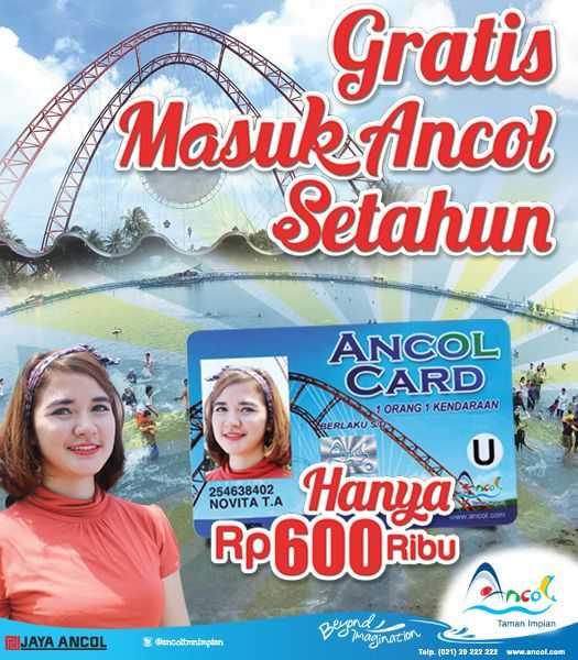 Ancol Member Card Gratis Tiket Masuk Setahun Serta Diskon
