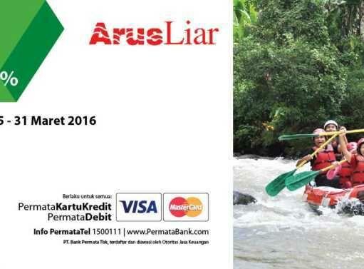 Promo Arus Liar bank permata kartu kredit dan debit diskon hingga 30%