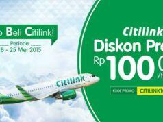 Kode Promo tiket pesawat citilink di tiket.com diskon hingga Rp 100.000