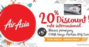 Promo Air Asia Big Card CIMB Panorama Tours diskon hingga 20% plus 5%