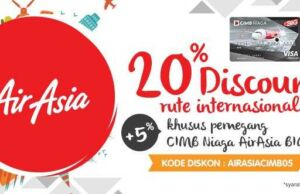 Promo Air Asia Big Card CIMB Panorama Tours diskon hingga 20% plus 5%