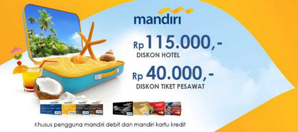 Promo Tiket Pesawat dan Hotel Kartu Kredit dan Debit Mandiri pegipegi.com