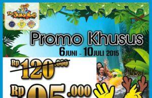 Promo Jungle Waterpark Bogor Musim Liburan tiket masuk hanya RP 95.000