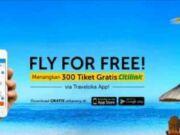 Nikmati tiket gratis maskapai citilink dengan traveloka apps